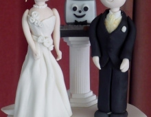 Bride-groom-computer