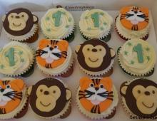 Tiger-monkey-cupcakes