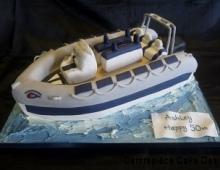 Rib boat cake