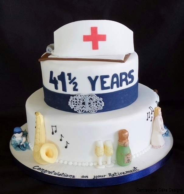 Retirement Cakes Centrepiece Cake Designs Isle of Wight