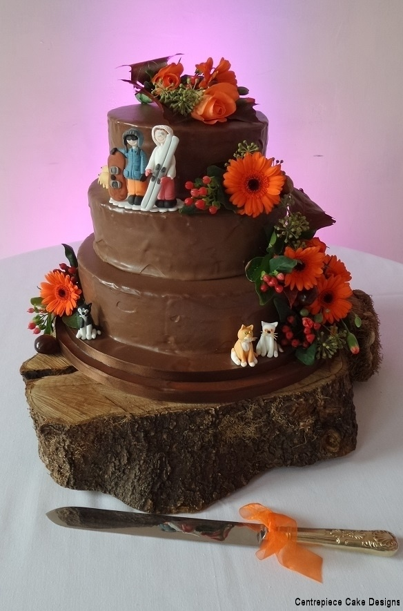 Chocolate Wedding Cakes Handmade On The Isle Of Wight