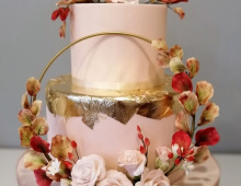 2-tiers with a ring and floral design