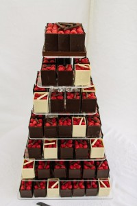 500th Chocolate Boxes wedding cake