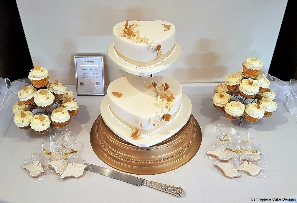 two tier cupcake wedding cake tiered wedding cakes isle of wight wedding cake bakers 21336