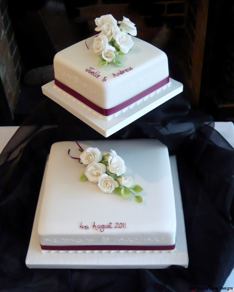 two tiered square wedding cake ideas tiered wedding cakes isle of wight wedding cake bakers 21337