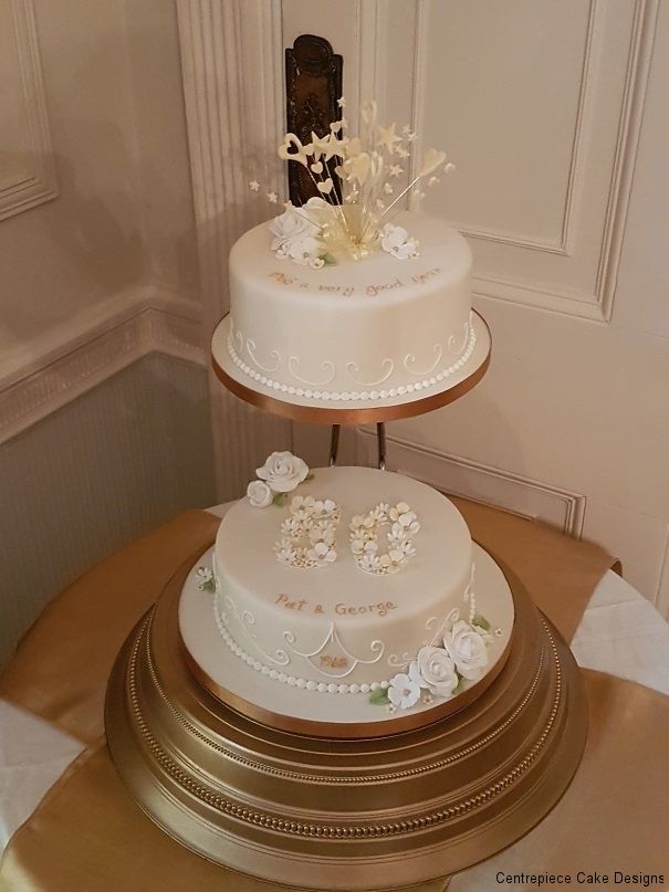golden wedding cake ideas anniversary cakes from 163 60 00 centrepiece cake designs 14759