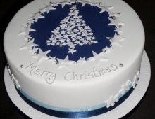 Christmas-cake-blue-tree