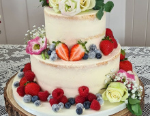 two-tier-semi-naked-wedding