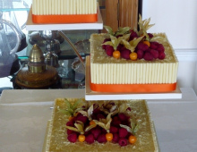white choc square + orange 1