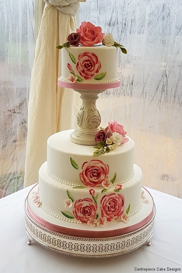 wedding cakes with pillars and roses classic style wedding cakes wedding cake maker iow 26080